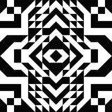 Triangle geometric shapes pattern. black and white Stock Photography
