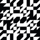 Triangle geometric shapes pattern. black and white Royalty Free Stock Photography