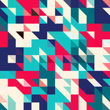 Triangle geometric shapes pattern. Stock Image