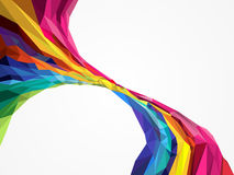 Triangle Geometrical Multicolored. Background Royalty Free Illustration
