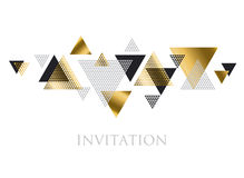 Triangle geometry abstract vector illustration Stock Photos