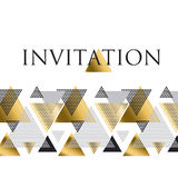 Triangle geometry abstract vector illustration Stock Image