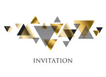 Triangle geometry abstract vector illustration Stock Photo