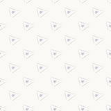 Triangle gray simple seamless abstract pattern Royalty Free Stock Photos