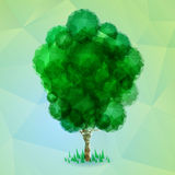 Triangle green tree Stock Images