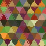 Triangle grits colorful mosaic continuous pattern vector illustration