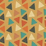 Trendy hipster triangle hand drawn random seamless pattern royalty free illustration