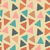 Triangle hand drawn multicolor pattern vector illustration