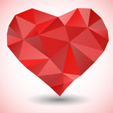 Triangle heart icon Royalty Free Stock Images