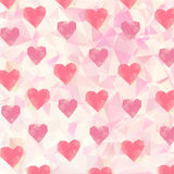 Triangle hearts background Stock Photo