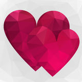 Triangle hearts Stock Photos