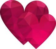 Triangle hearts Royalty Free Stock Photography