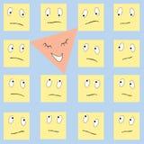 Triangle heureuse et grands dos tristes Illustration Stock