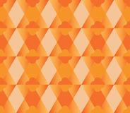 Triangle hexagon four season flower orange seamless pattern Royalty Free Stock Images