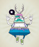 Triangle hipster bizarre character Royalty Free Stock Photo