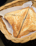 Triangle hot sandwiches Royalty Free Stock Images