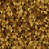 Triangle imitation gold. Seamless abstract bright background of the triangle. imitation gold. Use as a pattern fill, backdrop, seamless texture Royalty Free Stock Photos