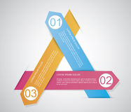 Triangle infographic Image libre de droits