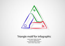 Triangle infographic from outlines on light Royalty Free Stock Photos