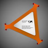 Triangle infographic template with orange color Royalty Free Stock Image
