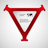 Triangle infographic template with red color Royalty Free Stock Photo