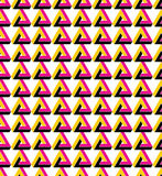 Triangle inspired texture background, continuous. Triangle inspired texture background. Continuous multicolored pattern with geometric figures, can be used for stock illustration