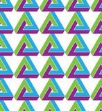 Triangle inspired texture background, continuous. Multicolored pattern with geometric figures, can be used for design and textile royalty free illustration