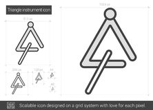 Triangle instrument line icon. Royalty Free Stock Photo