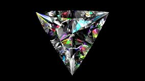 Triangle iridescente de diamant bouclé Alpha matte banque de vidéos