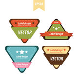Triangle label set Royalty Free Stock Photography