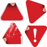 Triangle labels badges  Stock Image