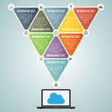 Triangle Laptop Data Infographic Elements Stock Photography