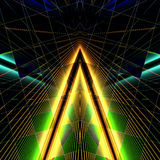 Triangle-laser. Triangle laser blue green and yellow color Stock Image