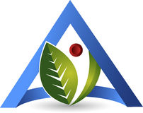 Triangle leaf logo Stock Photo