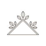 Triangle leaves decorative floral frame. Illustration eps 10 Stock Image
