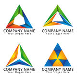 Triangle or Letter A Concept Logo Royalty Free Stock Photo
