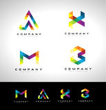 Triangle Letter Logo Royalty Free Stock Images