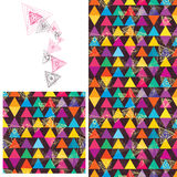 Triangle line abnormal seamless pattern Stock Image