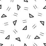 Triangle Line. Vector Illustration Hand Drawn Pattern Background Texture Cartoon Art vector illustration