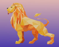 Triangle lion Royalty Free Stock Photos