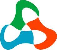 Triangle logo. Line art logo design Royalty Free Stock Photos