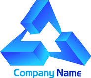 Triangle logo Royalty Free Stock Photo