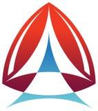 Triangle logo. Illustrated isolated triangle logo design Stock Photos