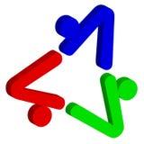 Triangle logo. 3d illustration art of triangle logo on isolated background Royalty Free Stock Photo