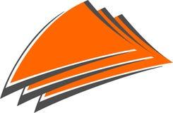 Triangle logo. Orange logotype. Vector illustration Royalty Free Stock Image