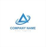 Triangle logo. Triangle blue logo vector graphic Stock Photos