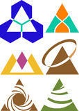 Triangle logo set Stock Photo
