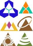 Triangle logo set. Isolated line art triangle logo set Stock Photo