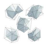 Triangle low poly circles set. Abstract business icons concept. Vector illustration. EPS10 Vector Illustration