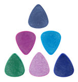 Triangle made of guitar picks Royalty Free Stock Photo